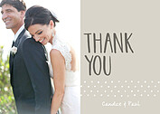 Swiss Dot Thanks Neutral Thank You Cards - Front