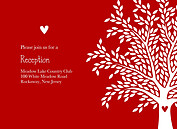 Tree of Love Reception Flat Cards - Front