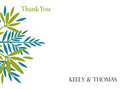 Tropic Company Thank You Flat Cards - Front