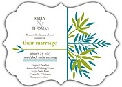 Tropic Company Ornate Wedding Invites Flat Cards - Front