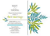 Tropic Company Wedding Invites Flat Cards - Front