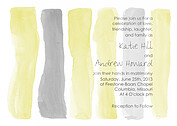 Watercolor Invitation Yellow Wedding Invites Flat Cards - Front