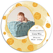 Watercolor Shimmer Dark Goldenrod Circle - Front