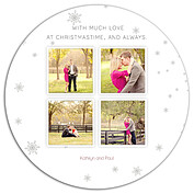 White Christmas Circle - Back
