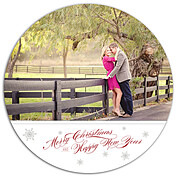 White Christmas Circle - Front