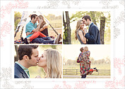 Forever In Love Date Save the Date Flat Cards - Back