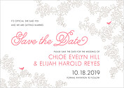 Forever In Love Date Save the Date Flat Cards - Front