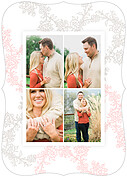 Forever In Love Date Ornate Save the Date Flat Cards - Back