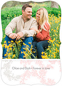 Forever In Love Invitation Ornate Wedding Invites Flat Cards - Back