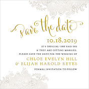 It's Official Date Square Save the Date Flat Cards - Front