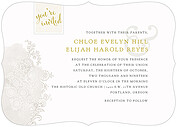 It's Official Invitation Ornate Wedding Invites Flat Cards - Front