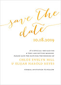 Love Sweet Love Date Save the Date Flat Cards - Front