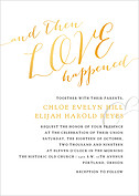 Love Sweet Love Invitation Wedding Invites Flat Cards - Front