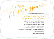 Love Sweet Love Invitation Ornate Wedding Invites Flat Cards - Front