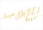 Love Sweet Love RSVP RSVP Flat Cards - Back