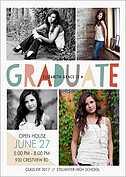 Picture Mixture Graduation Flat Cards - Front