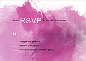 Spring Watercolor RSVP - Front