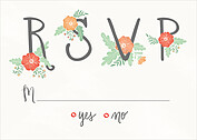 Finest Floral RSVP RSVP Flat Cards - Front