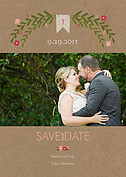 Blooming Date Pink Save the Date Flat Cards - Front