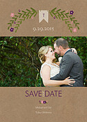 Blooming Date Plum Save the Date Flat Cards - Front
