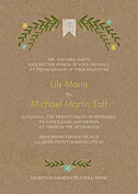 Blooming Invitation Mint Wedding Invites Flat Cards - Front