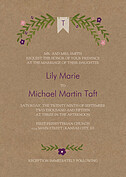 Blooming Invitation Plum Wedding Invites Flat Cards - Front