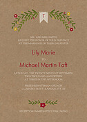 Blooming Invitation Red Wedding Invites Flat Cards - Front