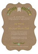 Blooming Invitation Mint Ornate Wedding Invites Flat Cards - Front