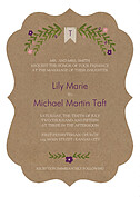 Blooming Invitation Plum Ornate - Front