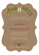 Blooming Invitation Red Ornate Wedding Invites Flat Cards - Front