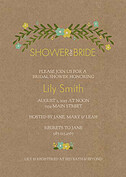 Blooming Shower Mint Shower Invites Flat Cards - Front