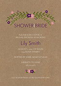 Blooming Shower Plum Shower Invites Flat Cards - Front
