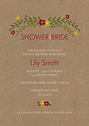 Blooming Shower Red Shower Invites Flat Cards - Front