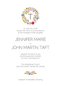 Bouquet Invitation Red Wedding Invites Flat Cards - Front