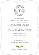 Bouquet Invitation Gray Ornate Wedding Invites Flat Cards - Front