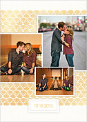 Damask Frame Date Save the Date Flat Cards - Back