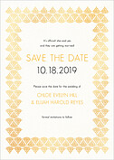Damask Frame Date Save the Date Flat Cards - Front