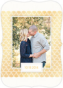 Damask Frame Date Ornate Save the Date Flat Cards - Back