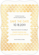 Damask Frame Date Ornate Save the Date Flat Cards - Front