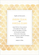 Damask Frame Invitation Wedding Invites Flat Cards - Front