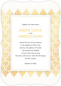 Damask Frame Invitation Ornate Wedding Invites Flat Cards - Front
