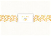 Damask Frame RSVP RSVP Flat Cards - Back