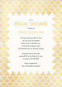 Damask Frame Shower Shower Invites Flat Cards - Front