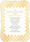 Damask Frame Shower Ornate Shower Invites Flat Cards - Front