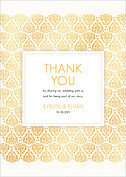 Damask Frame Thank You Thank You Flat Cards - Front