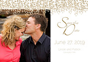 Dazzling Date Gold Save the Date Flat Cards - Front