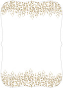 Dazzling Invitation Gold Ornate Wedding Invites Flat Cards - Back