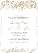 Dazzling Invitation Gold Ornate Wedding Invites Flat Cards - Front