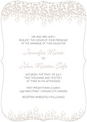 Dazzling Invitation Gray Ornate Wedding Invites Flat Cards - Front
