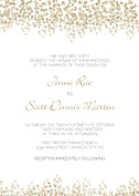 Dazzling Invitation Gold - Front